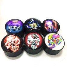 New Type 3D Grinder 50mm Beautiful Weed Spice Herb Tobacco Smoke Smoking Pipe Accessories