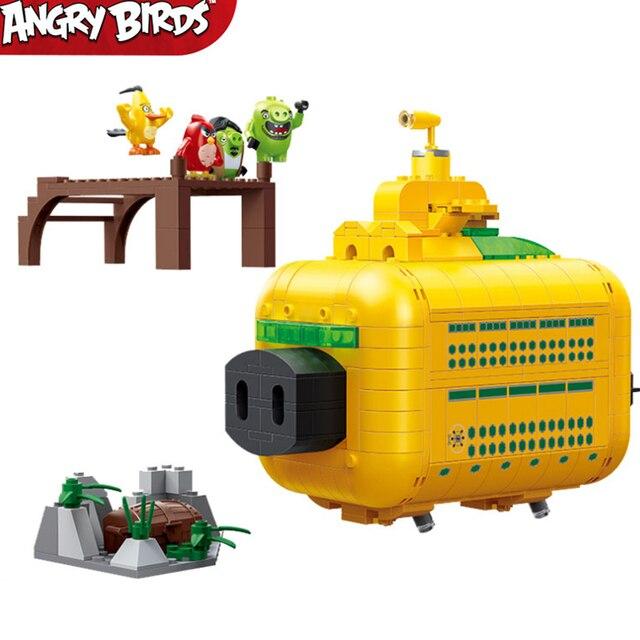 Em estoque novo filme bonito pássaros 2 porco truque leonard grande submarino sala de guerra blocos de construção define tijolos modelo crianças kits brinquedos idéias