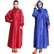 Raincoat Long  women Rain suit Hiking Increase Motorcycle Singles Man Bike Riding rain coat girls with Cuff Poncho Rain Jacket
