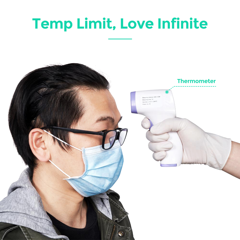 Portable Thermometer Gun Handheld Infrared Non-Contact With LCD-Backlight For Adult Kids Forehead Thermometer