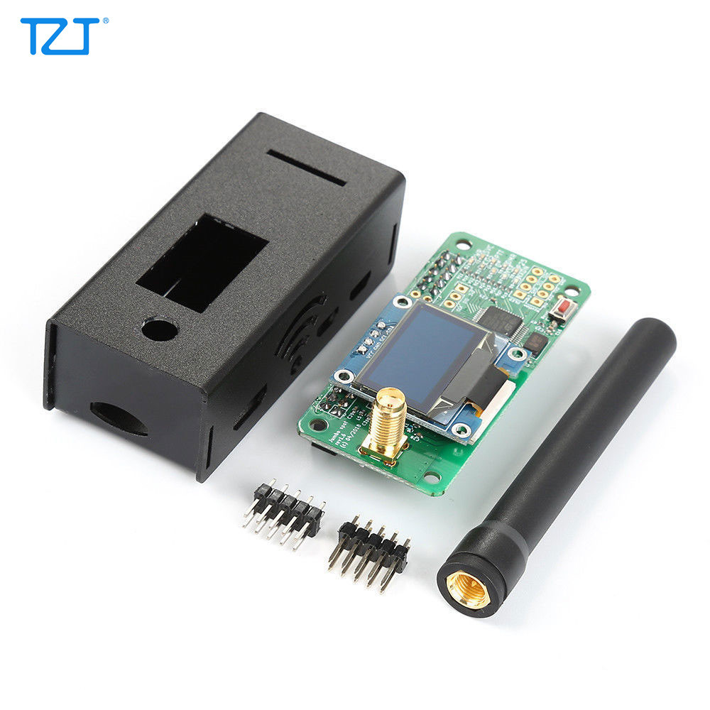 TZT UHF VHF UV MMDVM Hotspot Kit Unassembled With Shell For DMR P25 YSF DSTAR Raspberry Pi Zero 3B 3B