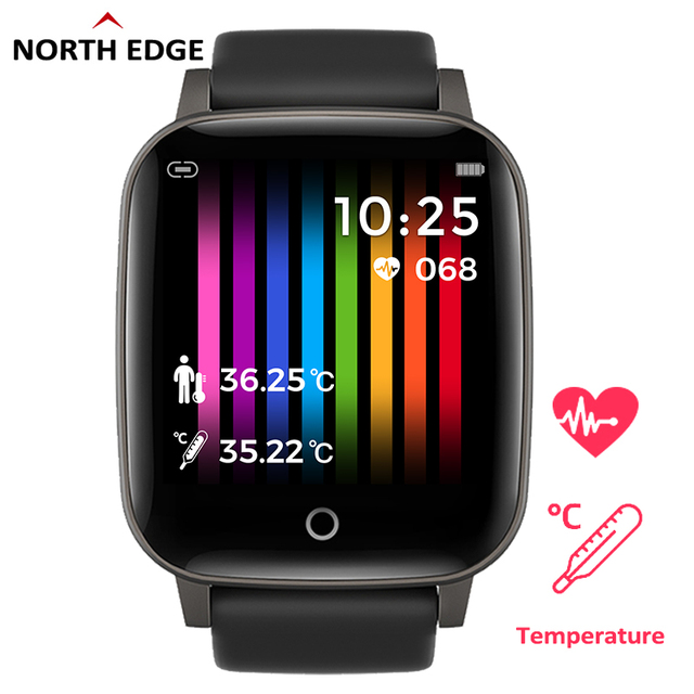 NORTH EDGE Men's Smart Watch Body Temperature 24H Measurement Health Watch Heart Rate Smartwatch Fitness Tracker For Android IOS 1