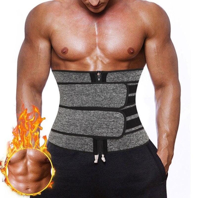 Waist Trainer Corset Men Neoprene Body Shaper Tummy Control Belt Sauna Slimming Strap Fitness Sweat Shapewear for Fat Burner