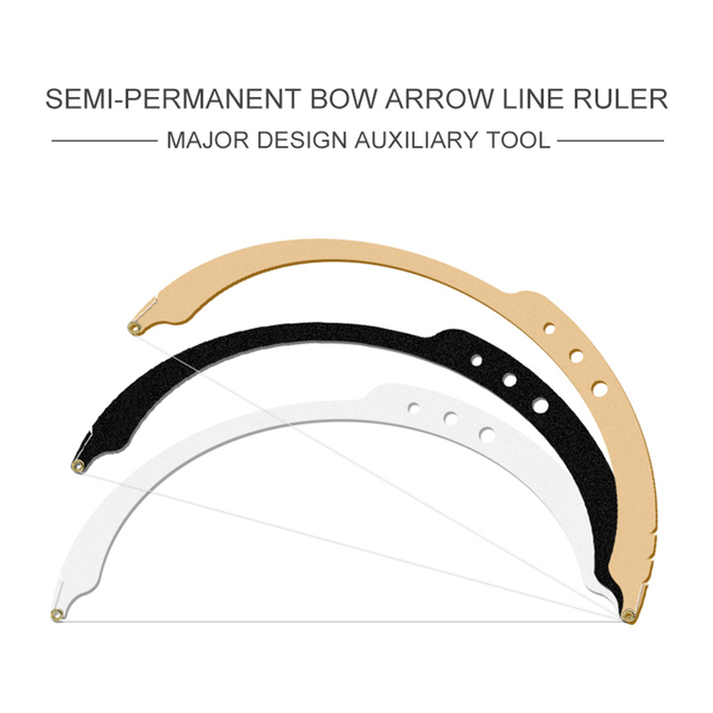 1PC Bow Carbon Paper Make Up Dyeing Liners Thread Semi Permanent  Line Ruler Positioning Eyebrow Measuring Tool Auxiliary Safe