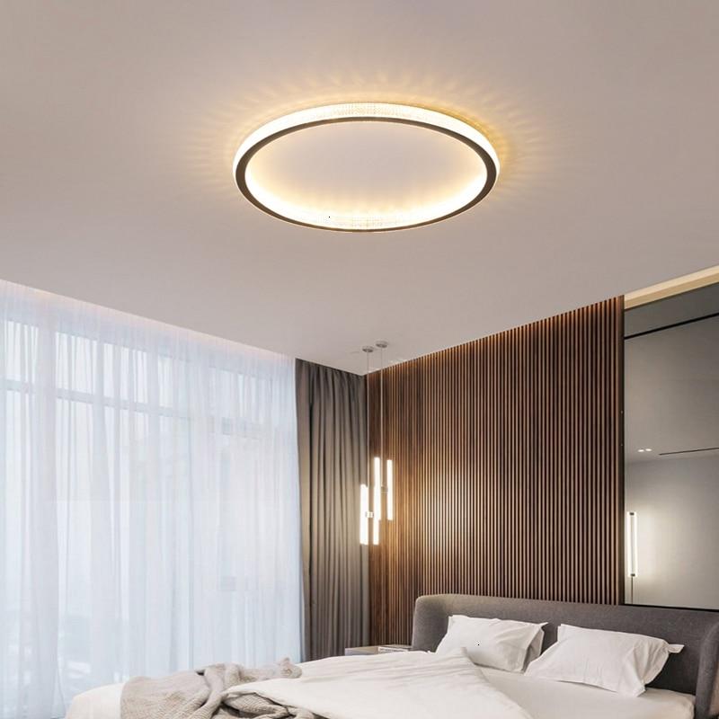 Minimalist Black/White/Gold Led Ceiling Lights For Living