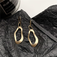 2020 New Arrival S925 Silver Plated Stud Fashion Metal Long Geometric Earrings Female Accessories Jewelry 2020 new arrival fashion cool s925 silver plated stud metal style c shaped earring for women accessories jewelry
