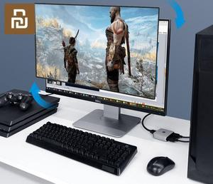 Image 4 - Xiaomi שני דרך הפצת HDMI Switcher תומך HD 4K עבור HDMI ממשק ציוד אלומיניום סגסוגת חומר