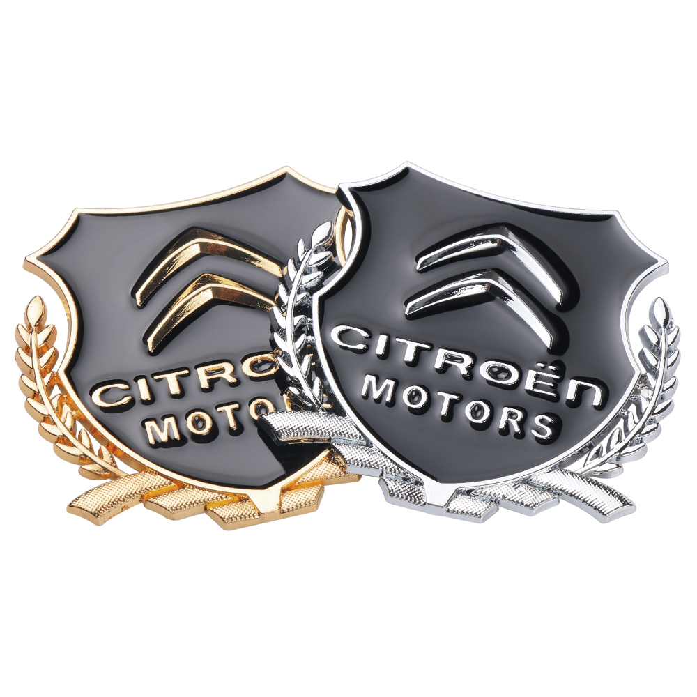 Car 3D Metal Window Body Sticker For Citroen C1 C2 C3 C4 C5 C6 C8 C4L DS3 DS4 DS5 DS6 C-ELYSEE VTS Decoration Accessories