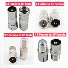 5pcs Adapter F Male Female To RF Female Male RF Coaxial TV Aerial Connector