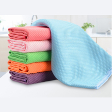 3PCS 30 x 40cm Soft Microfiber Cleaning Towel Kitchen Absorbable Glass Window Cloth Car Dish Dust Clean Bowel New