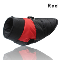 Red-Winter Warm Dog Clothes Waterproof Pet Padded Vest Zipper Jacket Coat For Small Medium Large Dogs