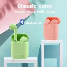 HBQ TWS Mini 2 Drahtlose Headsets Bluetooth 5,0 Kopfhörer Matte Macaron Ohrhörer Freihändiger Mit Mic Lade Box Headset PK I9S