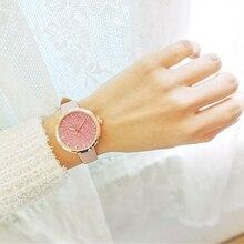 Charm Watches Women Design Small Watch Fashion Pink Leather Strap Luxury Quartz Ladies Bracelet montre femme zegarek