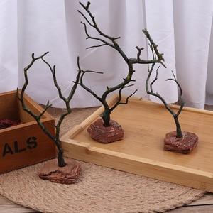 1Pc Zen ogród plastikowy suchy dekor w kształcie drzewa piasek taca miniatury Model dekoracji wnętrz
