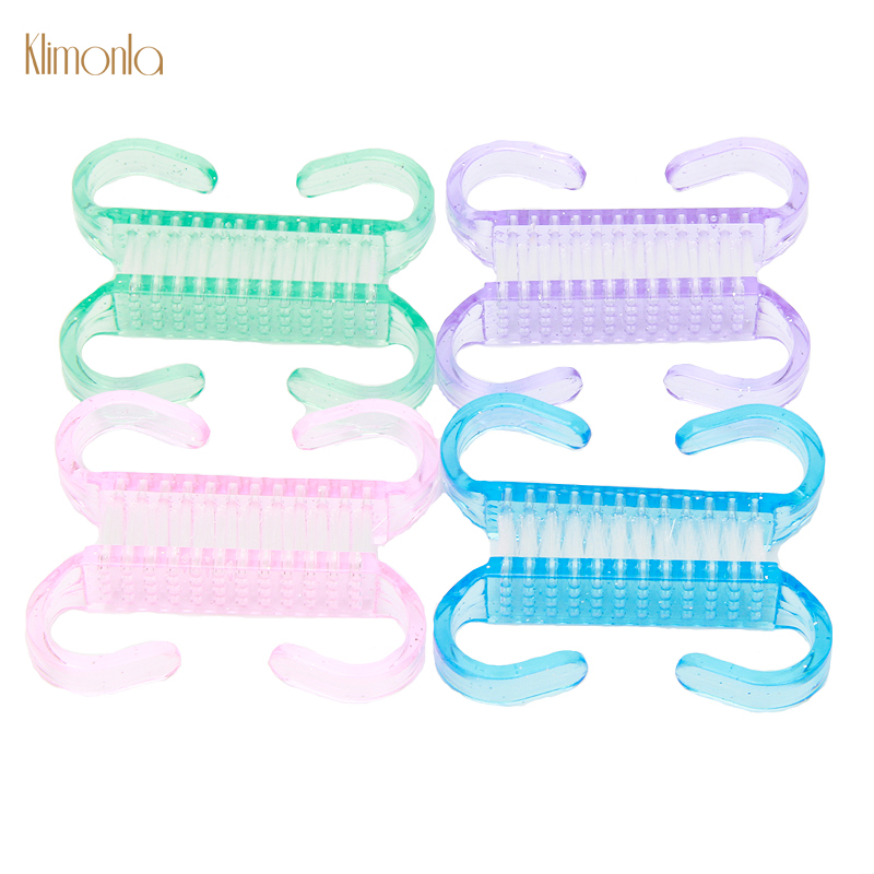 50pcs Mix Color Nail Art Brush Set Plastic Dust Remover UV Gel Polish Manicure Tools High Quality Cleaning Brushes