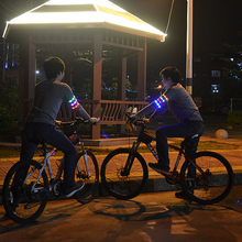 Hot Portable Size Men Women Unisex LED Arm Belt Bike Bicycle Outdoor Night Cycling Running Safety Warning Arm Light new arrivals warning waist belt tape lamp led light outdoor night cycling running working workplace safety supplies accessories