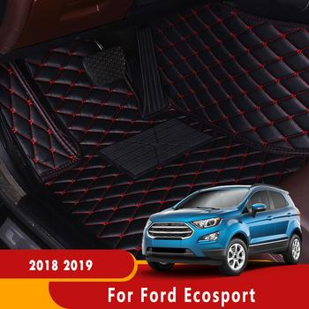 Akcesoria do wnętrz samochodowych skórzane wodoodporne dywaniki samochodowe części samochodowe maty podłogowe dla Ford Ecosport 2018 2019 tanie i dobre opinie KALAMENG Sztuczna skóra Włókien syntetycznych Skóra Matowa Maty i dywany decoration For Ford Ecosport 2018 2019 3 pcs