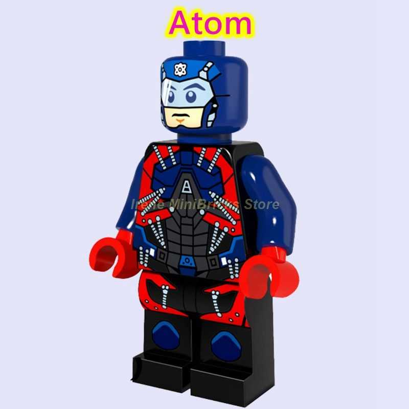 Legends of Tomorrow Batman Atom firesorm canario blanco Michael Quick Citizen juguetes de acero para niños bloques de construcción Marvel DC