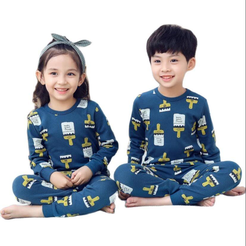 Kids Sleepwear baby girl spring cotton sets boys Homewear Pajamas children Pyjamas Kids Nightwear 2-13Y unisex teenage clothes