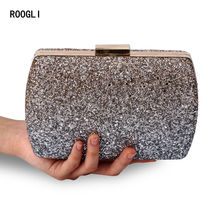 2020 new flash of light handbag glitter clutch Evening Party Clutch Bag fashion Women Luxury purse Bags wedding Crossbody Bag star detail glitter crossbody bag