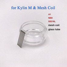 10pcs/Pack A1 NI80 SS316L Mesh Coil and 1PC bubble Glass Tube compatible for Vandy Vape Kylin M RTA Atomizer Replacement Coils