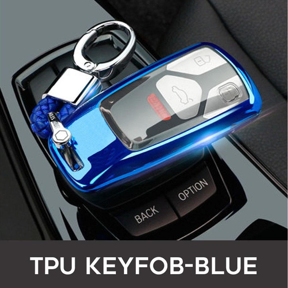 2019 Car Key Fob Case Cover For AUDI A4 A4L A5 B9 Q5 Q7 S4 S5 S7 TT TTS 8S 2016 2017 B9 car styling full protect TPUKey Case for Car   -
