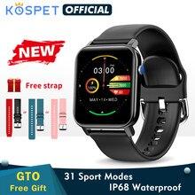 2020 kospet gto smartwatch masculino rastreador de fitness freqüência cardíaca ip68 à prova dip68 água bluetooth relógio inteligente feminino esportes banda para crianças