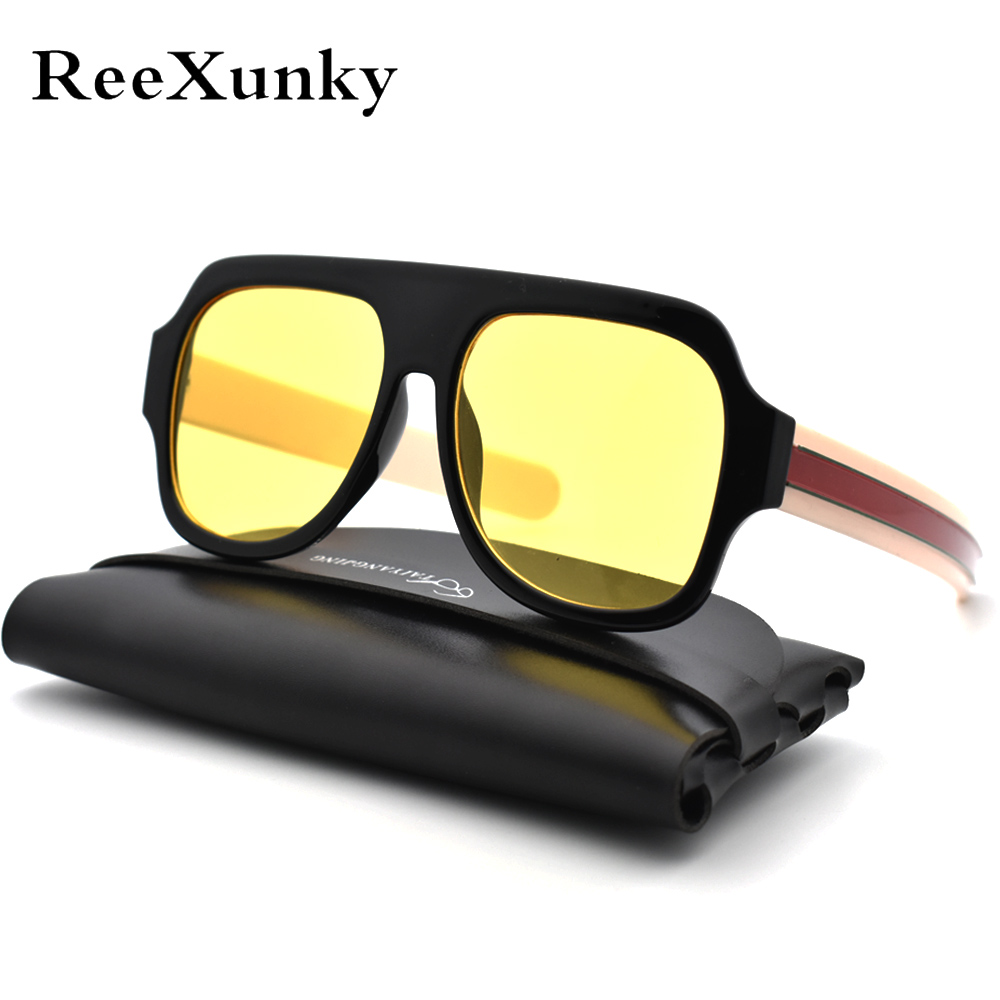 Fashion Unisex  Luxury Sunglasses 2019 Vintage Brand UV400 Women Oversized Visor