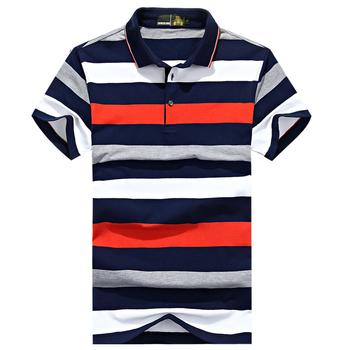 Nowy 2020 marka koszulka Polo w paski mężczyźni bawełna wysokiej jakości topy koszulki polo hombre Plus rozmiar 3XL biznes mężczyźni marki koszulki Polo tanie i dobre opinie ZHAN DI JI PU Krótki REGULAR Anglia styl NONE COTTON Oddychające Gradient white yellow gray black green M-3XL Tops Tees polo shirt