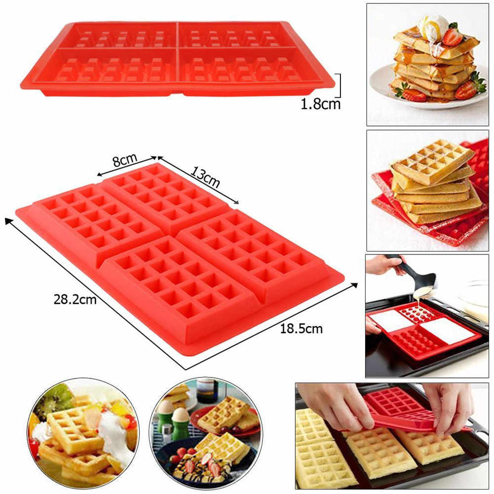 Siliconen Wafels Pan Cake Bakken Gebakken Muffin Cake Chocolate Mold Lade DIY Bakken Tray Molde Cocina Wafels Pan Maker Mold