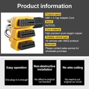 Image 3 - AUTOOL 16Pin Obd2 Verlängerung Kabel 50cm ODB Verlängerung Transfer Kabel OBDII OBD 2 Buchse OBD Stecker 16 Pin Flache stecker