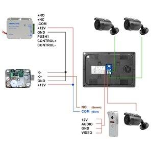 Image 5 - HomeFong Wireless Video Intercom IP Video Door Phone Wifi 10 inch Touch Screen Monitor HD 1080P Doorbell Home Intercom for Villa