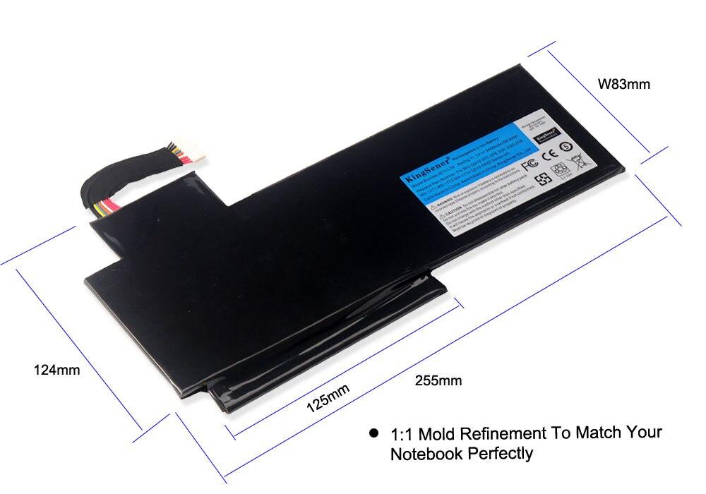 KingSener BTY-L76 Batterie Pour MSI GS70 2OD 2PC 2PE 2QC 2QD 2QE GS72 MS-1771 MS-1772 MS-1773 MS-1774 Pour MEDION X7613 MD98802 - 4