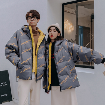 2020 new OW winter jacket men and women Korean fashion casual thick bread down