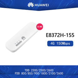 Desbloqueado Huawei E8372h-155 4G USB módem WiFi 4G 150Mbps LTE FDD prohibiciones 1/3/5 /7/8/20 TDD38/40/41 móvil USB Dongle Mifi Hotspot