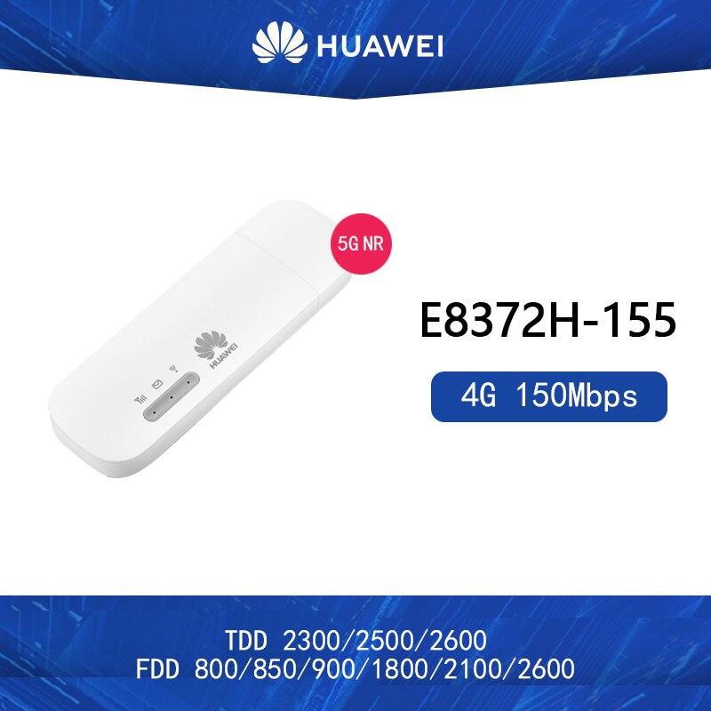 Unlocked Huawei E8372h-155 4G USB WiFi Modem 4G 150Mbps LTE FDD BANS 1/3/5/7/8/20 TDD38/40/41 Mobile USB Dongle Mifi Hotspot