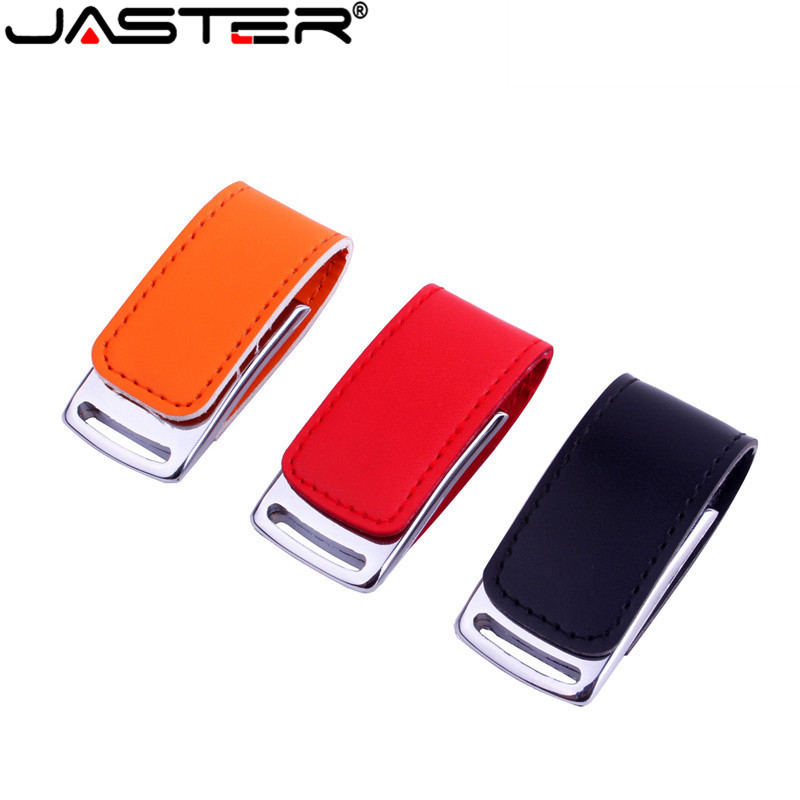 JASTER Wholesale Metal Leather Usb Flash Drive Pendrive 4GB 8GB 16GB 32GB 64GB Memory Stick U Disk Free Shipping