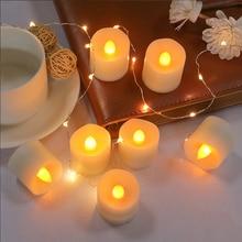 Flameless LED Tea wax Tea Light Candles Candlelight Dinner Props Decorative Wedding Candle Birthday/Wedding /Christmas décor birthday candel christmas wax rabbit candele decorative natalizie natale candles wedding decoration bengalas de boda fete 92