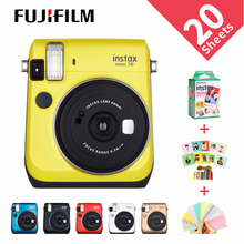 6 ألوان كاميرا Fujifilm Instax Mini 70 كاميرا فورية للتصوير الفوري أحمر أسود أزرق أصفر أبيض ذهبي