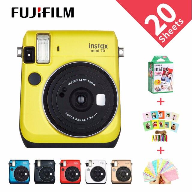 6 couleurs Fujifilm Instax Mini 70 Photo instantanée appareil Photo instantané rouge noir bleu jaune blanc or