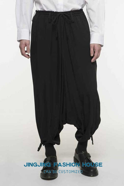 S-6XL!!New style male youth personality harun baggy pants low crotch casual pants men's pants loose nine pants 6
