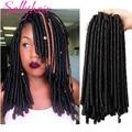 Синтетические косички для наращивания Sallyhair, 14 дюймов, 70 г/упак. косички для наращивания волос в стиле афро, мягкие косички коричневого и чер...