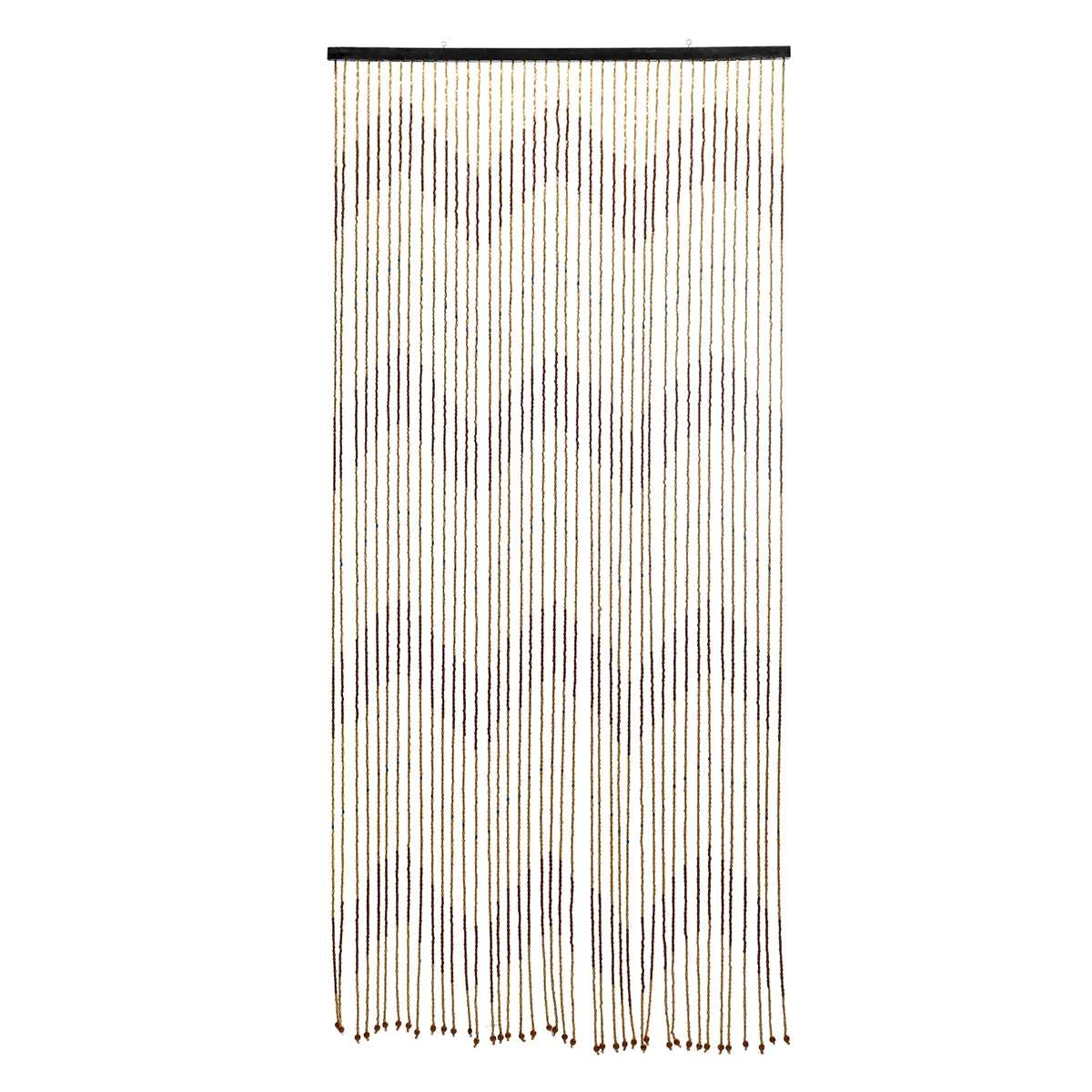 High Quality Wooden Door Curtain Blinds Handmade Fly Screen Wooden Beads Room Divider 31 Line Non-toxic No Smell 90x220cm