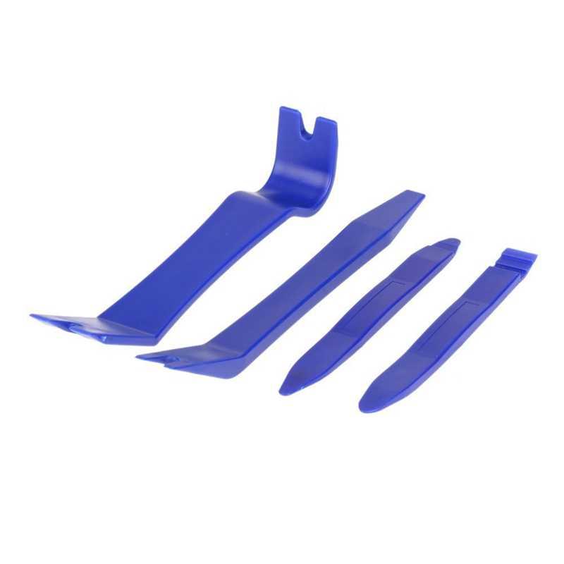 Herramienta de eliminación de paneles, Kit de eliminación de tapicería de 4 Uds de alta calidad para Auto Dash Radio Clip para puerta Juego de Herramientas de eliminación de paneles
