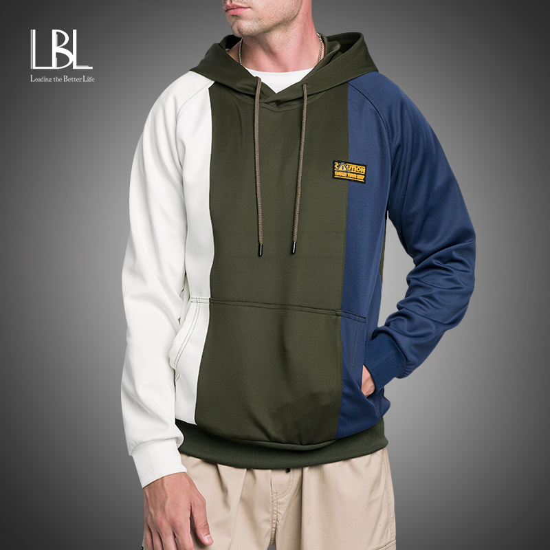 Hoodies Sweatshirts Men Fashion Streetwear Patchwork Pullover Hooded Sweatshirt Hoodies Men New 2020 Autumn Sweatshirts Men