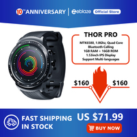 New Zeblaze Thor PRO 3G GPS Smartwatch 1.53inch Android 5.1 MTK6580 1.0GHz 1GB+16GB Smart Watch BT 4.0 Wearable Devices