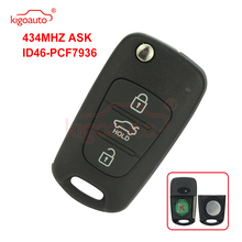цена на kigoauto Flip remote key 3 button 434Mhz for Hyundai i20 i30 car Key Replacement Remote