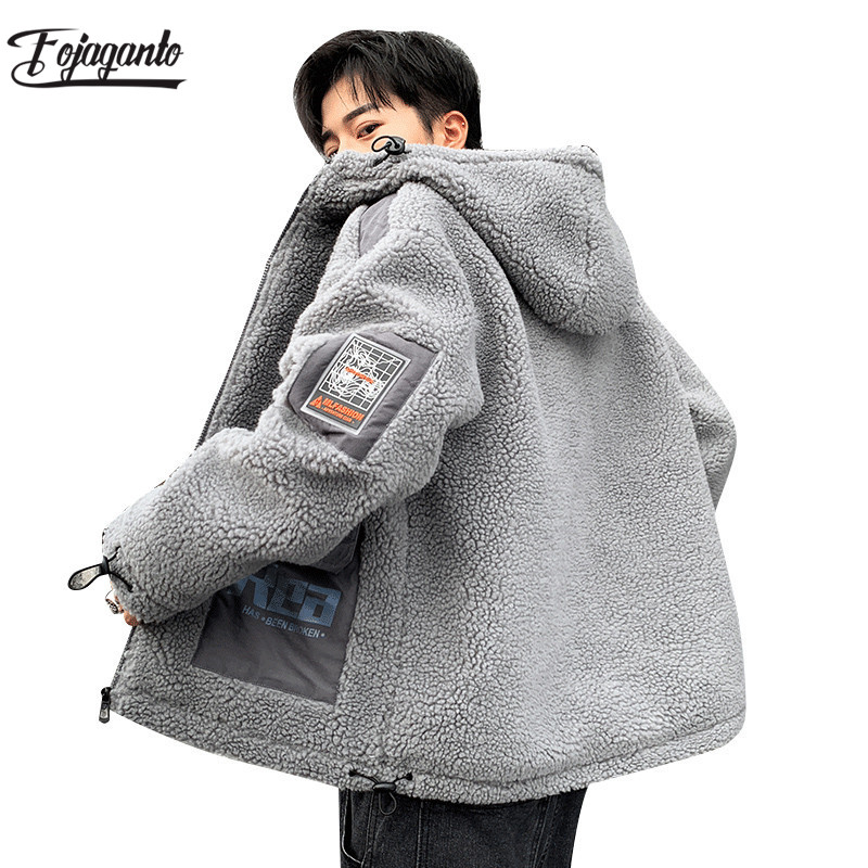 FOJAGANTO Men's Winter Fleece Jacket Men Brand Outdoor Tourism Warm Hooded Coat Ski Hiking Comfortable Male Jackets