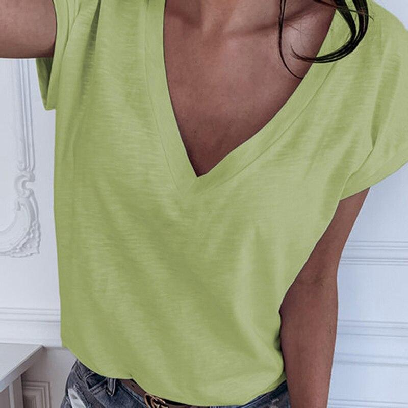 GAOKE White Summer T Shirt Women Casual Womens Tee Shirts Harajuku Plus Size Tops Short Sleeve T-shirt Ladies Women Clothings 3