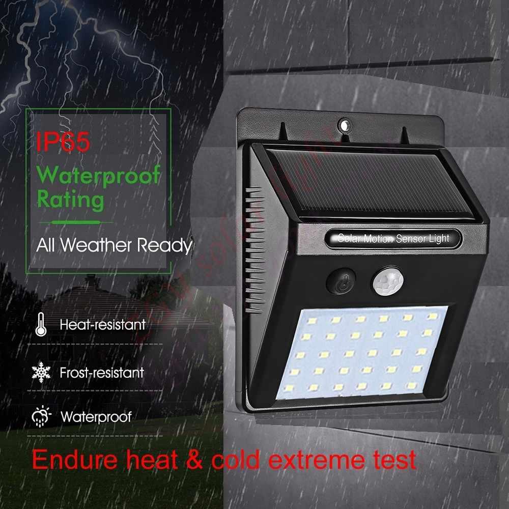 20/30 Led ソーラーパワー Pir モーションセンサーウォールライト屋外防水省エネ街路ガーデンセキュリティ道路ヤードランプ